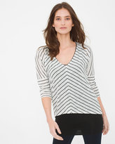 White House Black Market Layered Stripe Top Layered Stripe Top