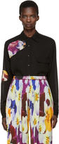 Christopher Kane Black Floral Cut-out Shirt