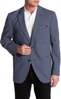 Kroon Bono Blue Check Two Button Notch Lapel Coat