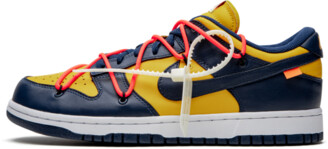 Nike Dunk Low 'Off-White - University Gold' Shoes - Size 5