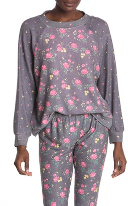 Wildfox Couture Floral Print Sweatshirt