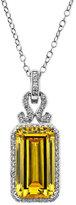 Arabella Sterling Silver Necklace, Yellow and White Swarovski Zirconia Pendant (19-3/4 ct. t.w.)
