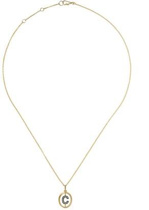Annoushka 18kt gold diamond initial C necklace
