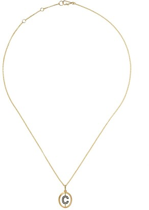 Annoushka 18kt gold diamond initial C necklace