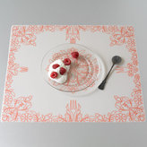 Modern-Twist Placemat Damask Orange