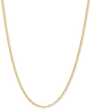 """Italian Gold Anchor 20"""" Chain Necklace in 14k Gold"""