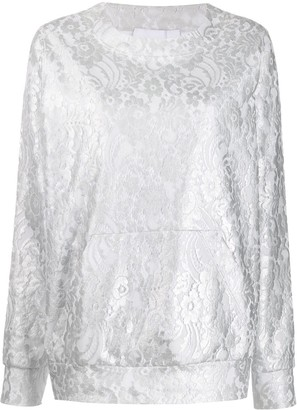 NO KA 'OI Lace-Pattern Sweatshirt