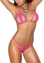 Sherrylo Sexy Lycra Bikini Top & Matching G-String Neon Mini Micro Swimwear
