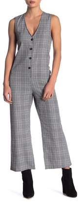 Love + Harmony Sleeveless Checkered Jumpsuit