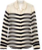 Fawn Black Sophie Transparent Stripe Blouse