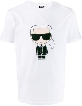 Karl Lagerfeld Paris Ikonik embroidered T-shirt
