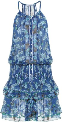 Poupette St Barth Exclusive to Mytheresa a Honey floral cotton minidress