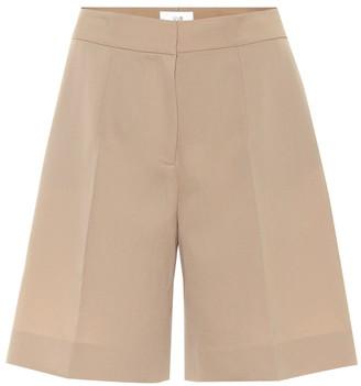 Victoria Victoria Beckham High-rise wool-blend shorts