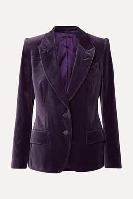 Tom Ford Cotton-velvet Blazer - Purple