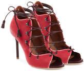 Malone Souliers Lace-Up Velvet Sandals