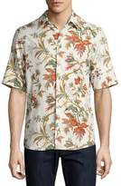 McQ by Alexander McQueen Floral-Print Short-Sleeve Shirt, Off White