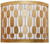 Worlds Away Midcentury Motif Sconce With White Inner Shade