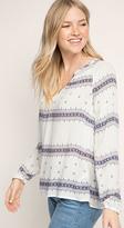 Esprit OUTLET linen Henley blouse