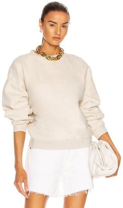 AGOLDE Nolan Drop Shoulder Sweatshirt in Oatmeal Heather | FWRD