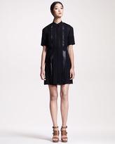 Belstaff Arlesey Leather-Trim Dress