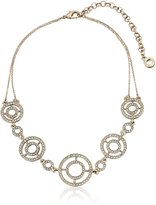 "Anne Klein Gold-Tone Crystal Choker Necklace, 12.5"" + 3"" Extender"