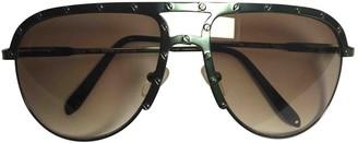 Acne Studios Green Metal Sunglasses