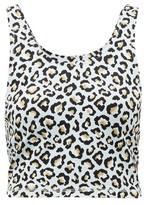 The Upside Ice Leopard-jacquard Jersey Crop Top - Womens - Leopard