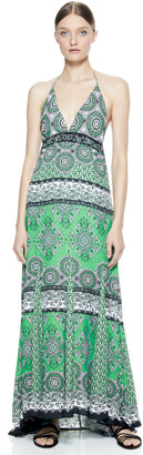 Alice + Olivia Alette Halter Maxi Dress
