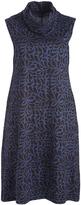 Aller Simplement Blue Floral Contrast-Sleeve Midi Dress - Plus Too