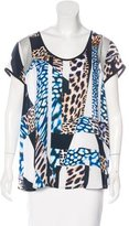 Trina Turk Mixed Print Short Sleeve Top w/ Tags