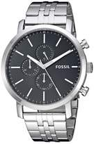 Fossil Men's Luther Quartz Watch with Stainless-Steel Strap