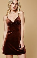 Lucca Couture Velvet Mini Slip Dress