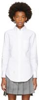 Thom Browne White Classic Button-Down Point Collar Shirt