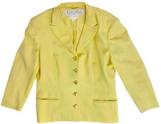 Escada Yellow Wool Jackets