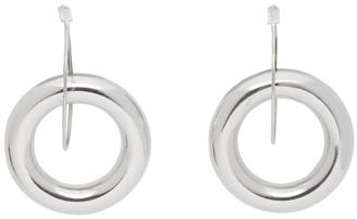 Jil Sander Silver Double Hoop Earrings