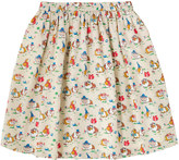 Cath Kidston Pets Party Cotton Elasticated Skirt