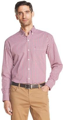 Izod Men's Sportswear Premium Essentials Stretch Plaid Button-Down Shirt