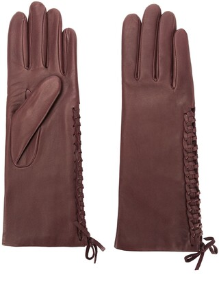 Agnelle gloves with lace detail