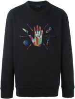 Lanvin embroidered hand sweatshirt