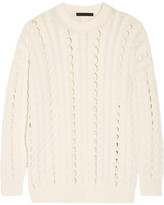 Alexander Wang Open Cable-knit Cotton Sweater - Cream