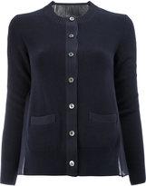 Sacai sheer back cardigan - women - Cotton - 2