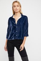 Cp Shades Alexa Velvet Buttondown by at Free People