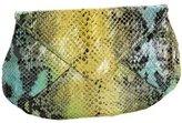 Snake-Print Envelope Clutch