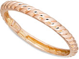 Macy's 14k Rose Gold Polished Cable Ring