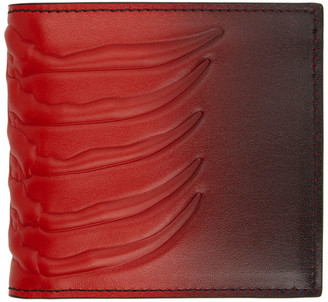 Alexander McQueen Red and Black Rib Cage Wallet