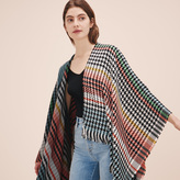Maje Multi-coloured knit poncho