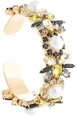 Erdem Crystal Bee Cuff Bracelet
