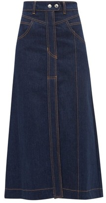 Ellery Traffic A-line Denim Skirt - Womens - Indigo