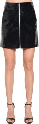 Rag & Bone High Waist Patent Leather Mini Skirt