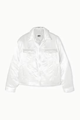 MM6 MAISON MARGIELA Padded Satin Jacket - White